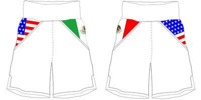 Mexican USA BX | Custom Boxing Shorts & Trunks | Boxxerworld