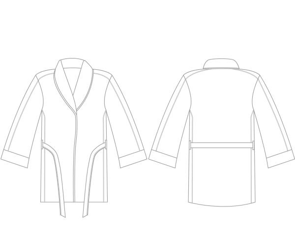 Boxxerworld  Cognac Robe